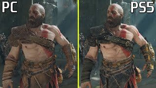 First Early God of War PC vs PS5 Graphics Comparison