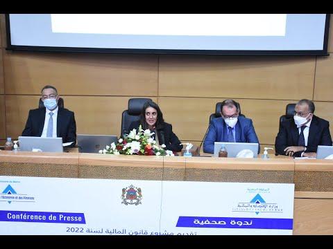 Video : Conférence de presse de Mme Nadia Fettah Alaoui pour présenter le PLF 2022