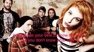 Emergency by Paramore lyrics
