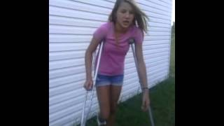 I sprained my ankle!!!