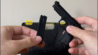 Miniature M9 Beretta Pistol 1/2 Scale (SHELL EJECTING!)
