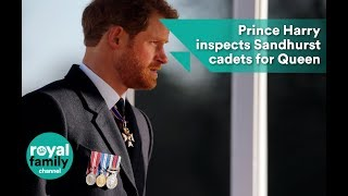 Prince Harry inspects Sandhurst cadets