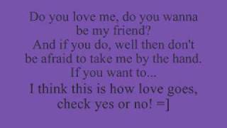 Check yes or no (George Strait) lyrics