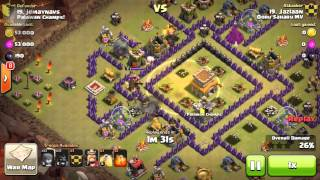 3 STAR TH8 HOG ATTACK by Jazlaan on Clash of Clans. | WAR ATTACK STRATEGY