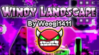Geometry Dash [2.0] (Demon) - WINDY LANDSCAPE (Old Version) by Woogi1411 [LIVE!] - GuitarHeroStyles