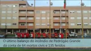 Bombeiros de Vila Verde prestam homenagem a bombeiro morto em incêndio