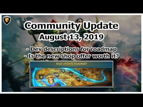 RAID Shadow Legends | Community Update Aug 13, 2019 | Developer Info on Roadmap!