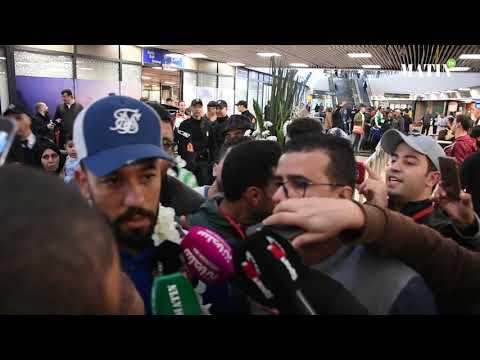 Video : Accueil triomphal des Aigles verts à l'aéroport Mohammed V