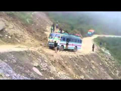 Trekking in Gosai Kunda NEPAL ON bad ROAD