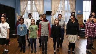 "The TADA! Resident Youth Ensemble Rehearses ""The Smartest Children In The Land"" from ""Geniuses"""