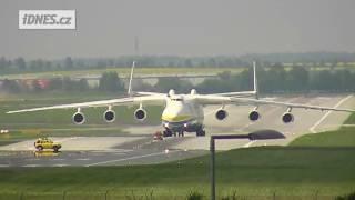 Antonov 225 Mrija v Praze 10.5.2016 Landing in Prague
