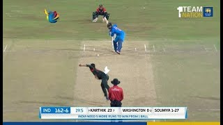 Nidahas Trophy 2018 Final Match, Final Over - India vs Bangladesh