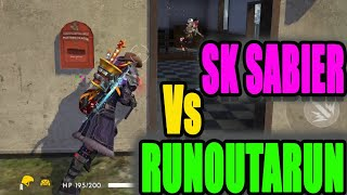 Free Fire tricks and tips || Sk sabier vs Runoutarun|| Run Gaming