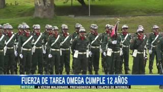 Fuerza de Tarea Omega cumplió 12 años de operaciones