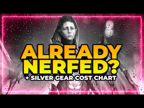 LYDIA NERFED?! | FULL Silver Cost Chart! | RAID Shadow Legends