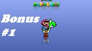 "Super Mario World Walkthrough Fase Bônus 1 ""A Casa da Moeda"""