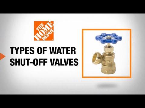 Types of Water Shut-Off Valves