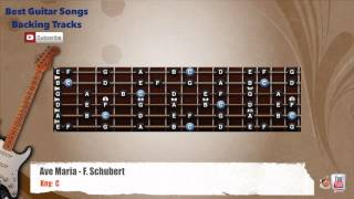Ave Maria - F. Schubert. Guitar Backing Track with scale