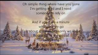 lily allen somewhere only we know lyrics