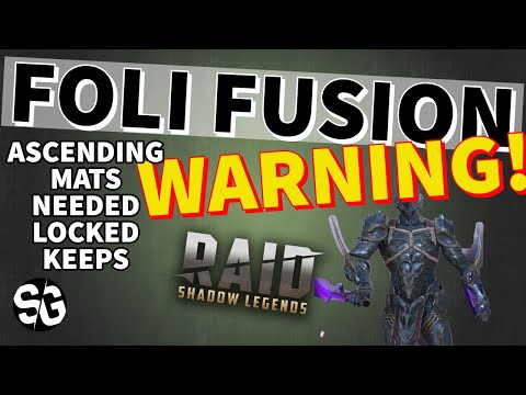[RAID SHADOW LEGENDS] FOLI FUSION - *WARNING* MATS NEEDED TO ASCEND ALL CHAMPIONS