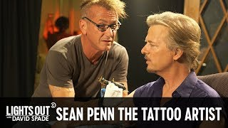 Sean Penn Gives David Spade a Tattoo - Lights Out with David Spade