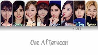 GIRLS' GENERATION (소녀시대) SNSD – ONE AFTERNOON (어떤 오후) Lyrics Color Coded [Eng/Han/Rom]