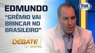 'GRÊMIO VAI BRINCAR NO BRASILEIRO', diz Edmundo sobre semifinalista da Libertadores