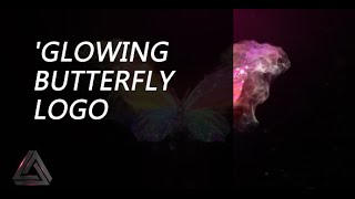 Glowing Butterfly Logo Reveal | After Effects Template | Logo Stings