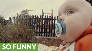 """Runaway baby"" footage is adorably entertaining"