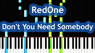 RedOne - Don't You Need Somebody Piano Tutorial (ft. Enrique Iglesias, R City, Serayah & Shaggy)