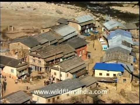 Passing through a small village on the way to Everest!