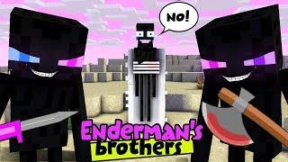 MONSTER SCHOOL : ENDERMAN'S BROTHERS MAKE TROUBLE IN MONSTER SCHOOL - SAD STORY
