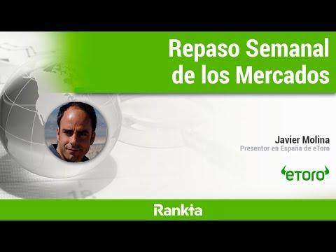 Conocemos toda la actualidad semanal de los mercados de la mano de Javier Molina, representante en España de eToro.