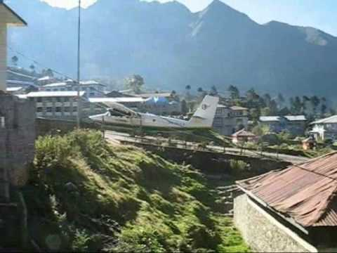 Airplane Take Off Kathmandu to Lukla Airport