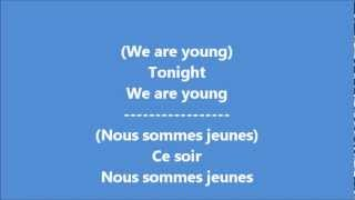 Glee - We are young / Paroles & Traduction