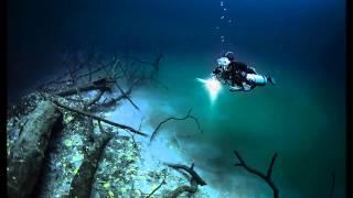 Hidden Underwater River Flowing Under the Ocean in Mexico HD 2014