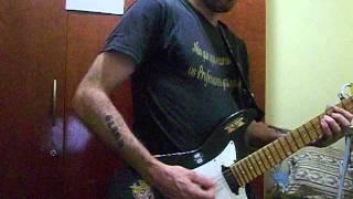 eu arranhando a guitarra