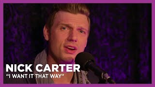 Nick Carter Performs 'I Want It That Way' Live at KiSS 92.5