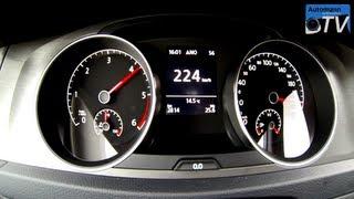 2013 VW Golf 7 2.0TDi (150hp) - 0-225 km/h acceleration (1080p FULL HD)