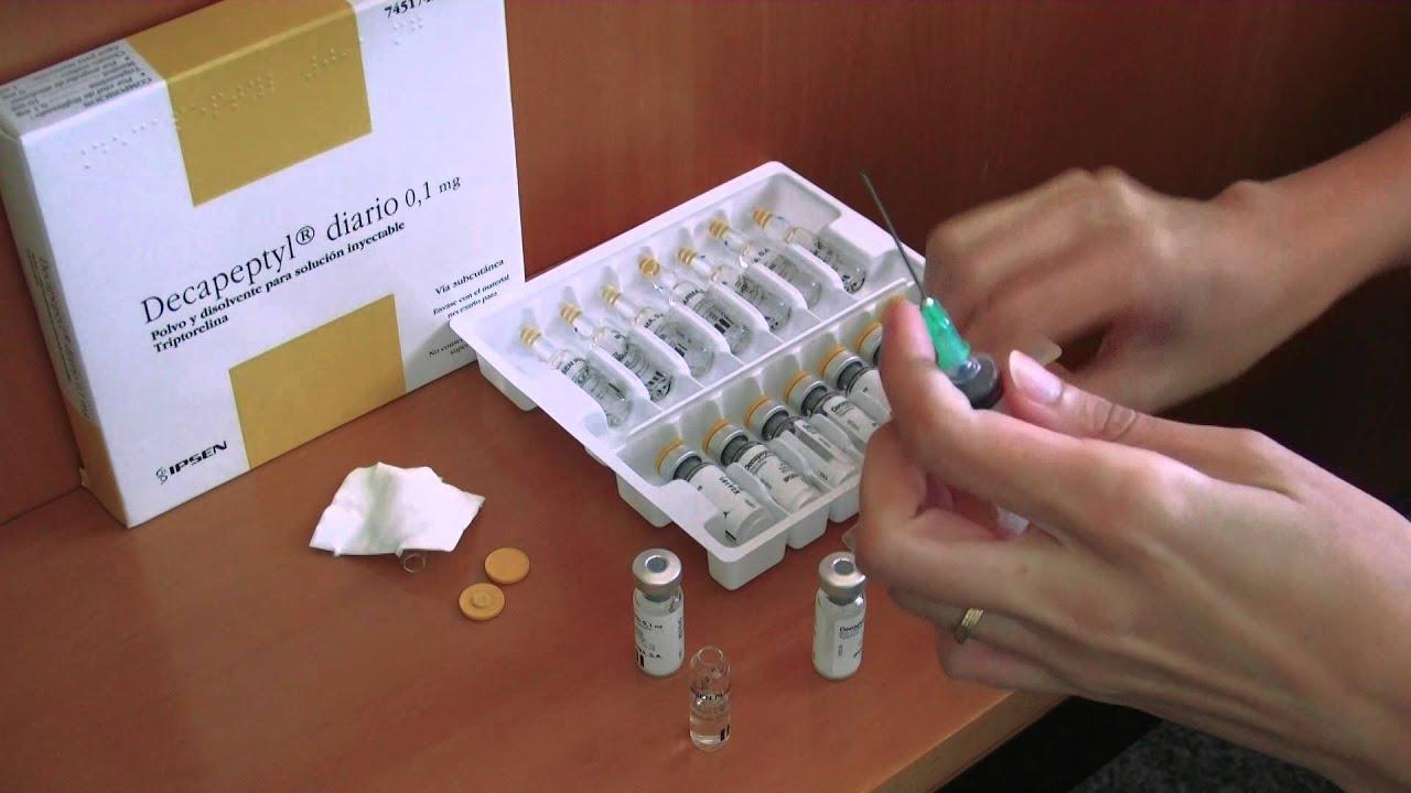 Instrucciones Decapeptyl®: preparación de la medicación