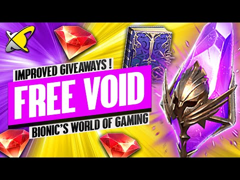 VOID SHARD GIVEAWAYS + 4,000$ ACCOUNT GIVEAWAY !?! | Bionic's World of Gaming | RAID: Shadow Legends