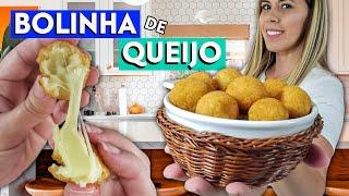BOLINHA DE QUEIJO CROCANTE DE FESTA