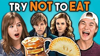 Try Not To Eat Challenge - Harry Potter Food | Teens & College Kids Vs. Food width=