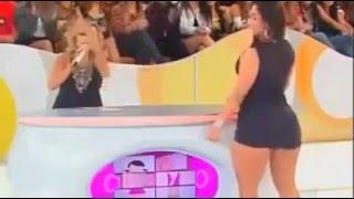 TWERK LIVE ON TV!!!! MULHER MELANCIA MEXENDO O BUMBUM AO VIVO!