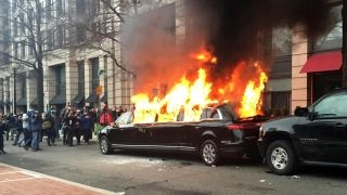 Owner of limo torched during inauguration faces $100K in damages