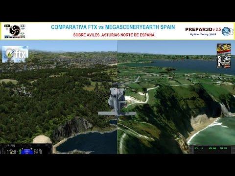 P3D v2 5] Evaluo MegaSceneryEarth Spain vs FTX Global, Vector y