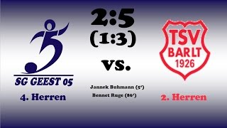Highlights SG Geest 05 IV vs. TSV Barlt II - 04.09.2016
