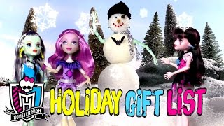 The Monster High Scary Cool Holiday Gift Guide! | Monster High