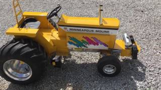 Minneapolis Moline 1/4 Scale Gas Tractor Selling at Auction