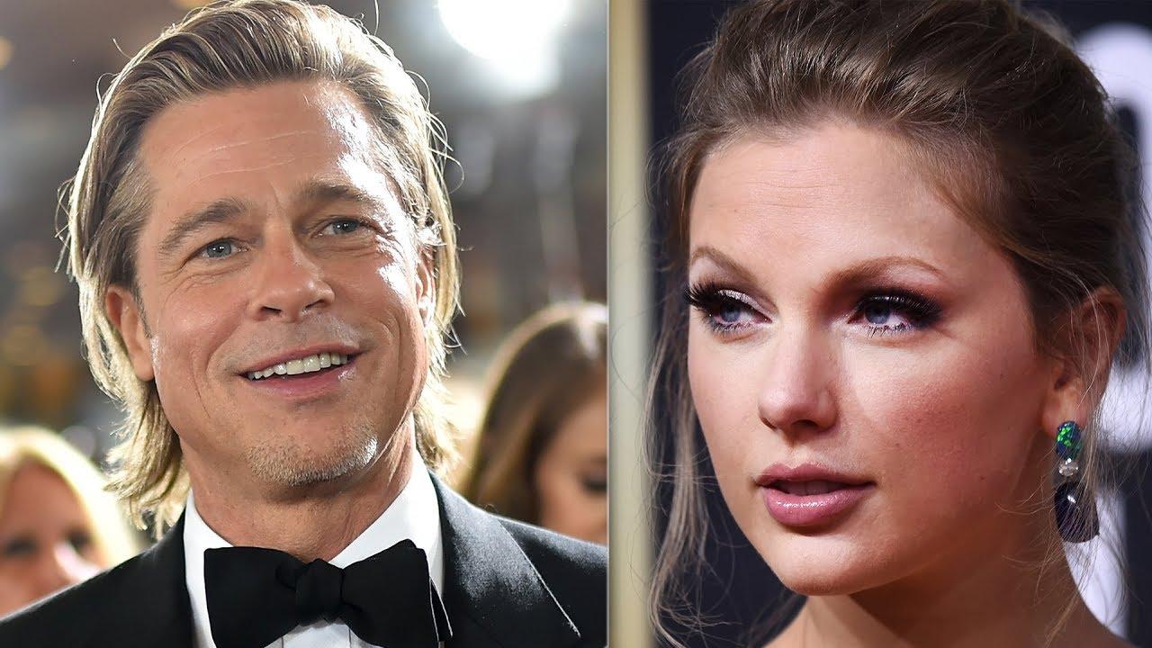 Taylor Swift Brad Pitt & Jennifer Aniston Golden Globes 2020 Best Dress
